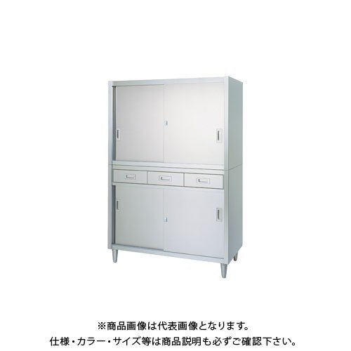 (直送品)(受注生産)シンコー ステンレス保管庫(二段式) 900×600×1750 VAD-9060