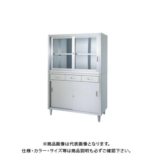 (直送品)(受注生産)シンコー ステンレス保管庫(二段式) 900×450×1750 VADG-9045