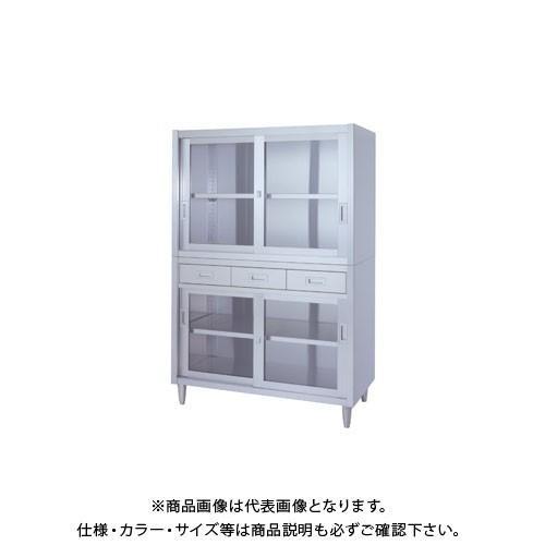 (直送品)(受注生産)シンコー ステンレス保管庫(二段式) 900×450×1750 VADGG-9045