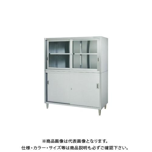 (直送品)(受注生産)シンコー ステンレス保管庫(二段式) 900×600×1750 VAG-9060