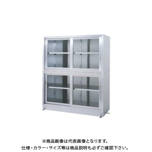 (直送品)(受注生産)シンコー ステンレス保管庫(二段式) 900×600×1750 VGG-9060