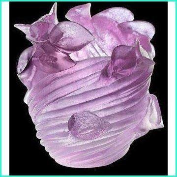 Daum Crystal Arum Ultraviolet Vase 03839