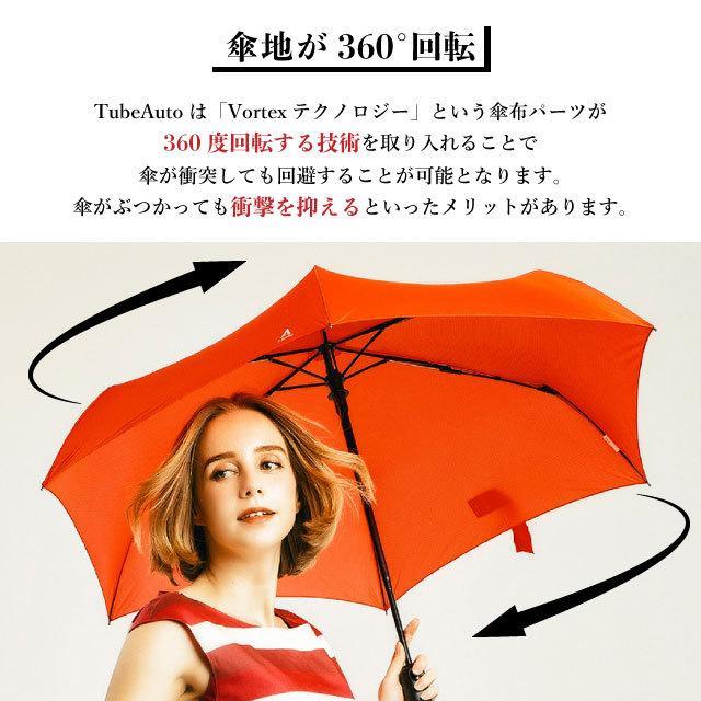 UV対策 日傘 軽量 折りたたみ傘 ワンタッチ自動開閉 Tube Auto メンズ レディース 大きい 超撥水 晴雨兼用 回転する UVカット UPF50+|kichijiroshop|02