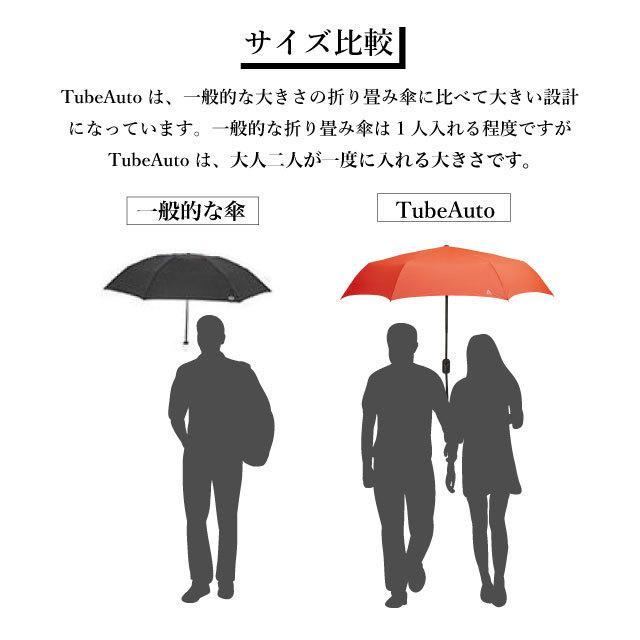 UV対策 日傘 軽量 折りたたみ傘 ワンタッチ自動開閉 Tube Auto メンズ レディース 大きい 超撥水 晴雨兼用 回転する UVカット UPF50+|kichijiroshop|07