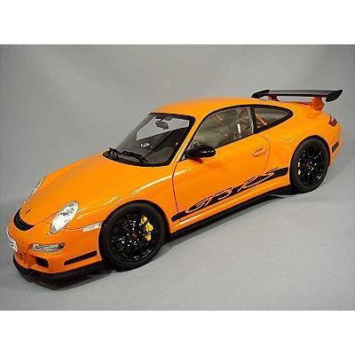 ☆ 【お取り寄せ商品】 オートアート 1/12 ポルシェ 911 (997) GT3 RS オレンジ/ブラックストライプ