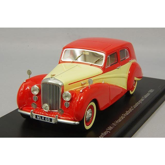 ☆ BoS Models 1/43 ベントレー MK VI ハロルドラドフォード カントリーマン サロン 1951 右ハンドル レッド/ライトベージュ