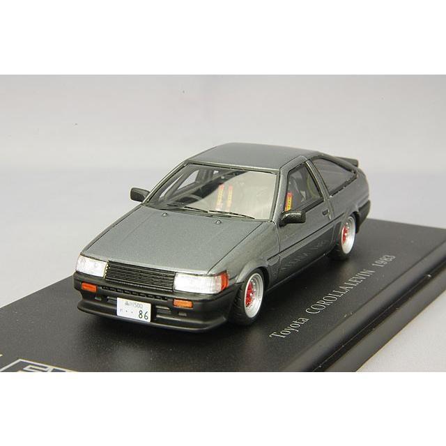 ☆ CAM@ 1/43 トヨタ カローラ レビン AE86 スポーツカスタム仕様 1983 ガンメタリック/デルタスポークホイール装着