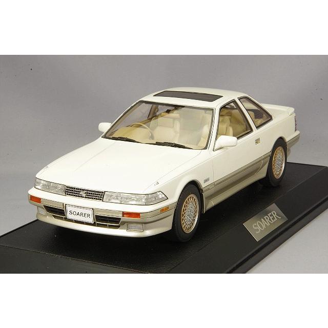 ☆ ホビージャパン 1/18 トヨタ ソアラ 3.0 GT リミテッド (MZ21) エアーサスペンション 1988 クリスタルホワイトトーニングII