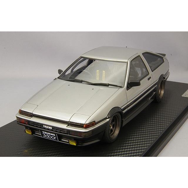 ☆ イグニッションモデル 1/18 トヨタ スプリンター トレノ 3ドア GT Apex (AE86) シルバー/ブラック/TE37タイプ15インチホイール