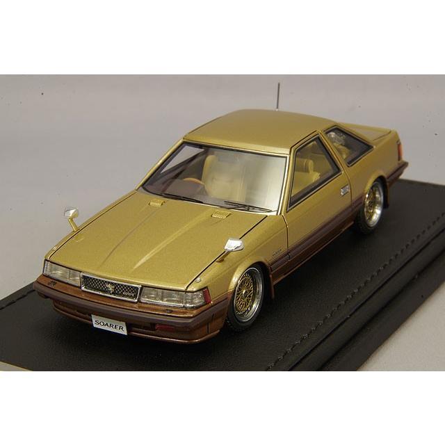 ☆ イグニッションモデル 1/43 トヨタ ソアラ 2800GT リミテッド Z10 ゴールド/ブラウン/BBS RSタイプ17インチ