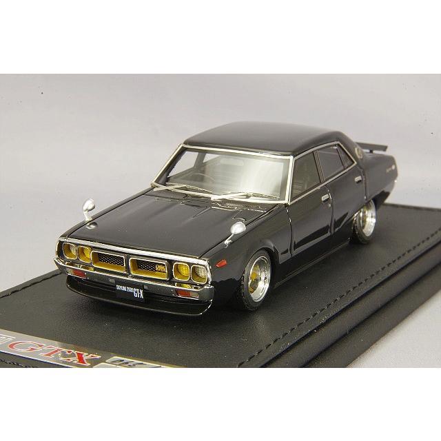 ☆ 海外並行品 イグニッションモデル 1/43 日産 スカイライン 2000 GT-X (GC110) ブラックメタリック/シャドータイプ14インチ深リム