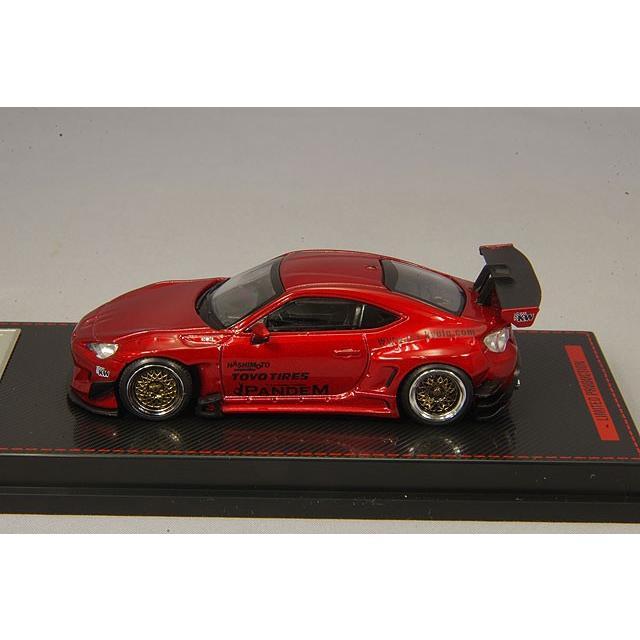 イグニッションモデル 1/64 パンデム トヨタ 86 V3 レッドメタリック RS05RRタイプ18インチホイール(シルバー) kidbox 02