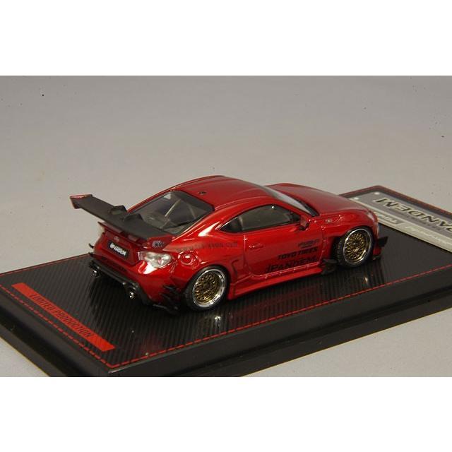 イグニッションモデル 1/64 パンデム トヨタ 86 V3 レッドメタリック RS05RRタイプ18インチホイール(シルバー) kidbox 03