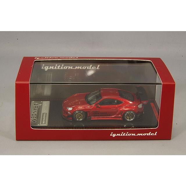 イグニッションモデル 1/64 パンデム トヨタ 86 V3 レッドメタリック RS05RRタイプ18インチホイール(シルバー) kidbox 04