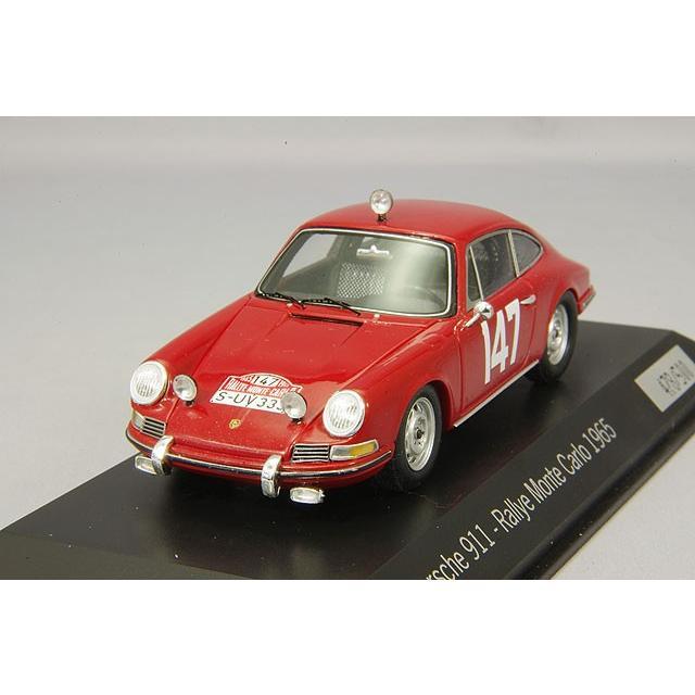 ☆ 【ポルシェミュージアム特注】 スパーク 1/43 ポルシェ 911 1965 モンテカルロ ラリー #147 H.Linge / P.Falk