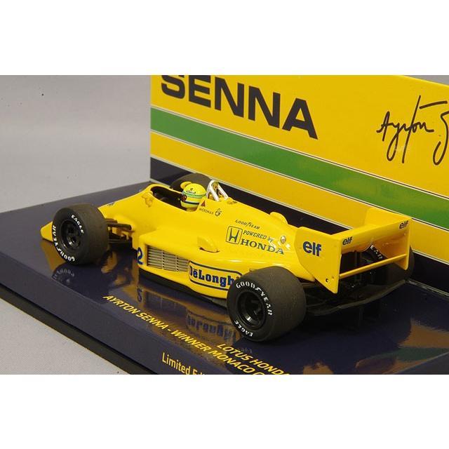 ☆ ミニチャンプス 1/43 ロータス ホンダ 99T 1987 F1 モナコGP ウィナー #12 A.セナ|kidbox|03