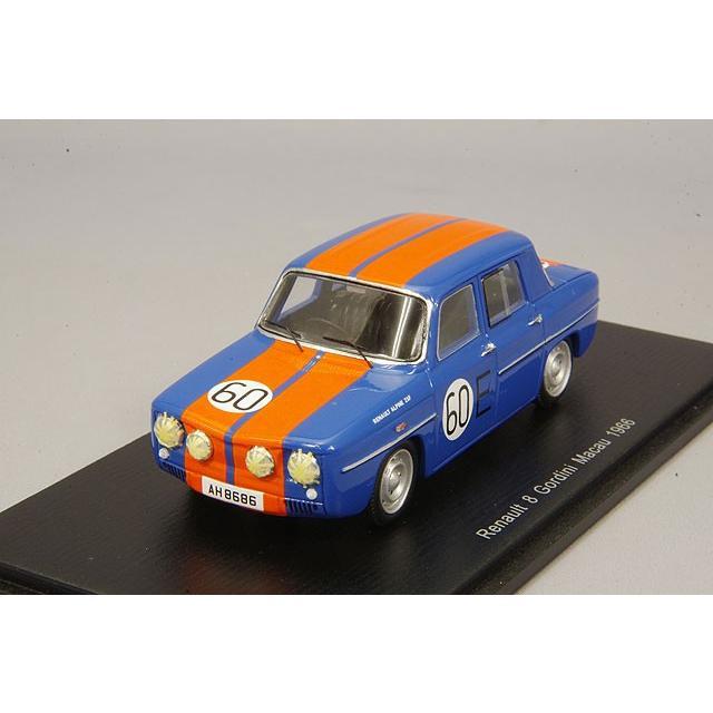 Spark Model S5559 Renault 8 GORDINI 1300 N.60 Macau 1966 Mauro Bianchi 1:43