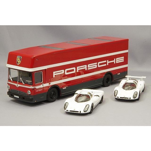 シュコー 1/43 ポルシェ 70周年 3台セット トランスポーター & 908K & 908L
