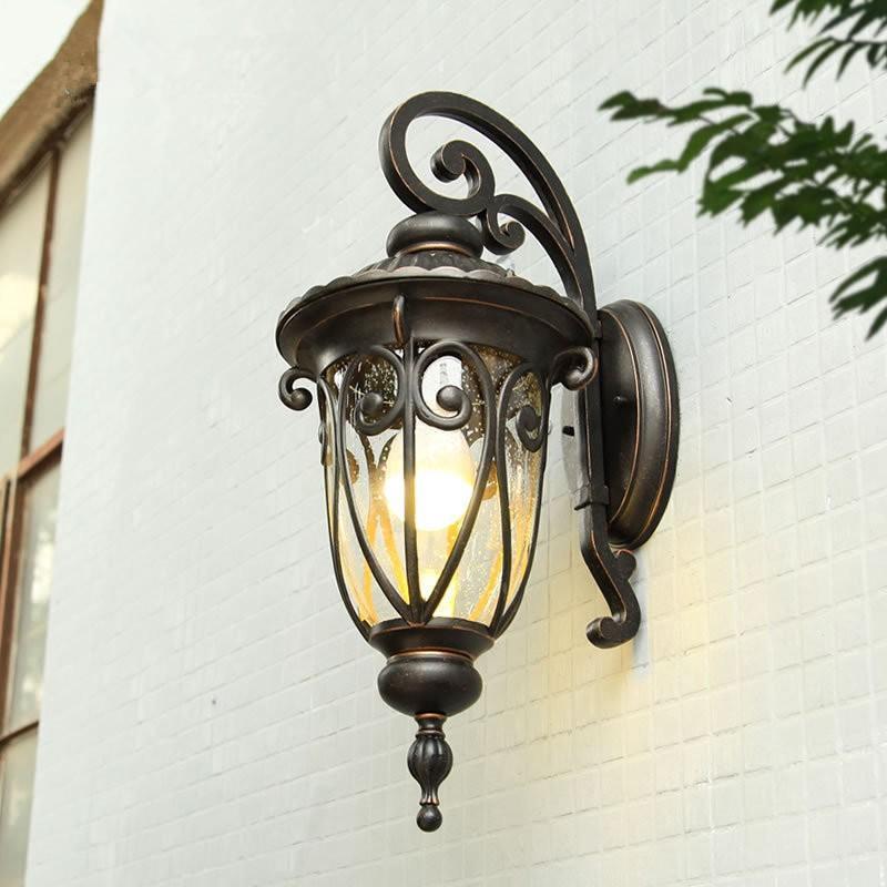ラケットライト 壁掛け照明 ポーチライト 照明器具 ウォールライト ウォールライト 壁掛け灯 防水 外灯 玄関照明 ガーデン レトロ 壁掛けライト アンティーク 庭園灯 門灯