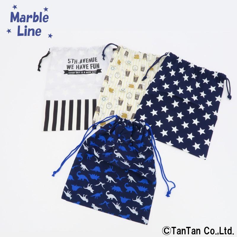 巾着Lサイズ 男の子 女の子 体操服 総柄 至高 恐竜 しろくま MarbleLine C K 予約販売 星 2001 マーブルライン ストライプ