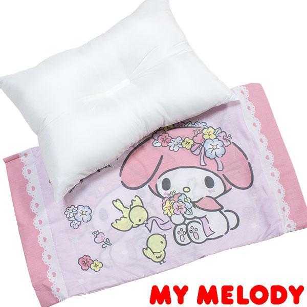 マイメロディ 枕 まくら カバー付き 28×39cm 記念日 ポリエステル100% 人気ブランド 花柄