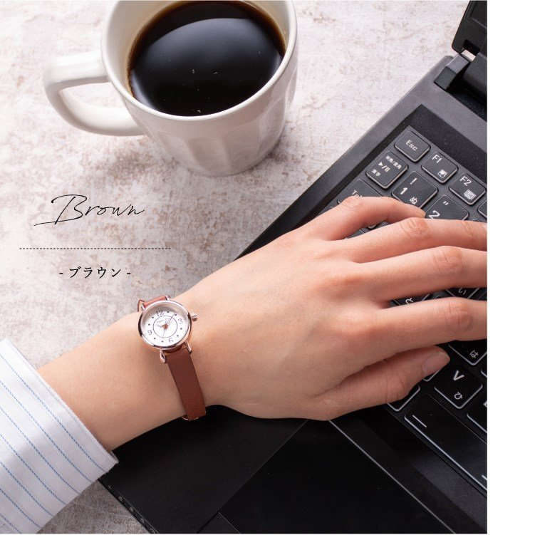 腕時計 レディース 抗菌ベルト 小ぶり シンプル きれい おしゃれ 仕事 レトロ プレゼント ギフト 1年間のメーカー保証付き メール便送料無料|kiitos-web|12