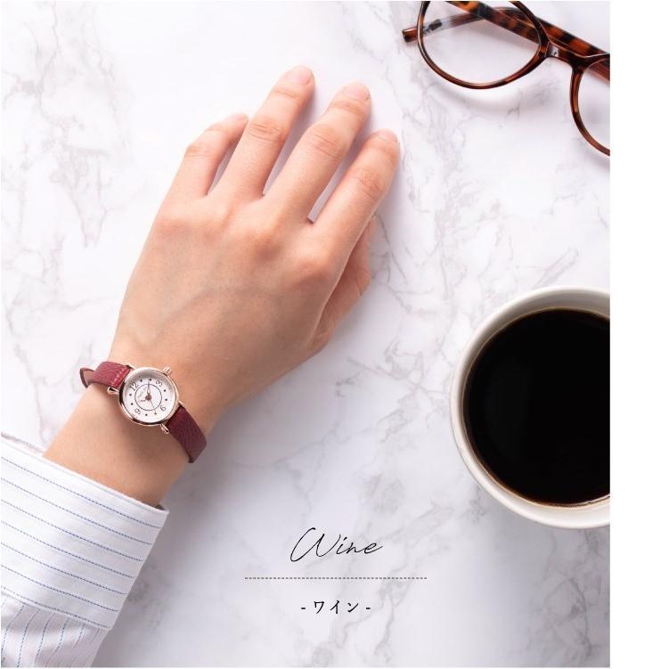 腕時計 レディース 抗菌ベルト 小ぶり シンプル きれい おしゃれ 仕事 レトロ プレゼント ギフト 1年間のメーカー保証付き メール便送料無料|kiitos-web|16