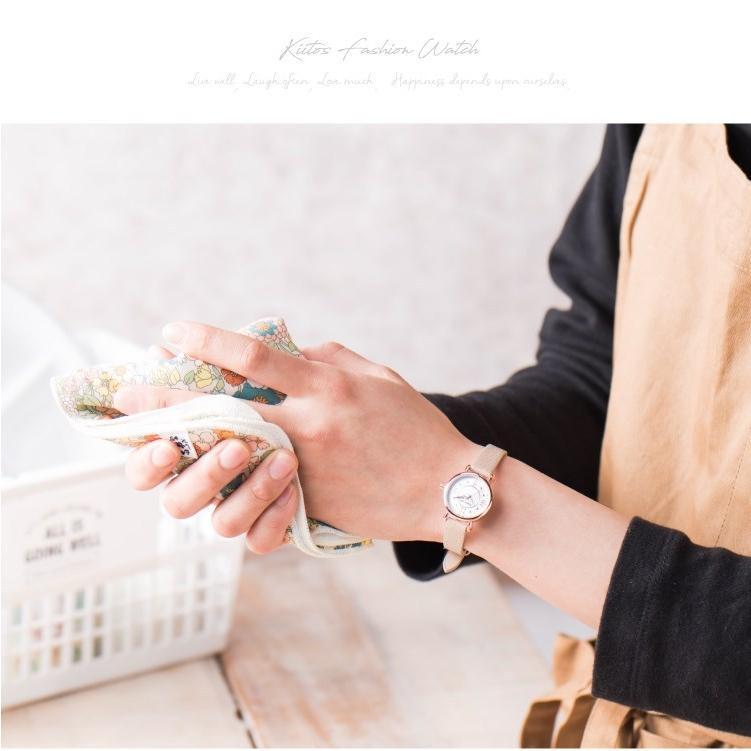 腕時計 レディース 抗菌ベルト 小ぶり シンプル きれい おしゃれ 仕事 レトロ プレゼント ギフト 1年間のメーカー保証付き メール便送料無料|kiitos-web|03