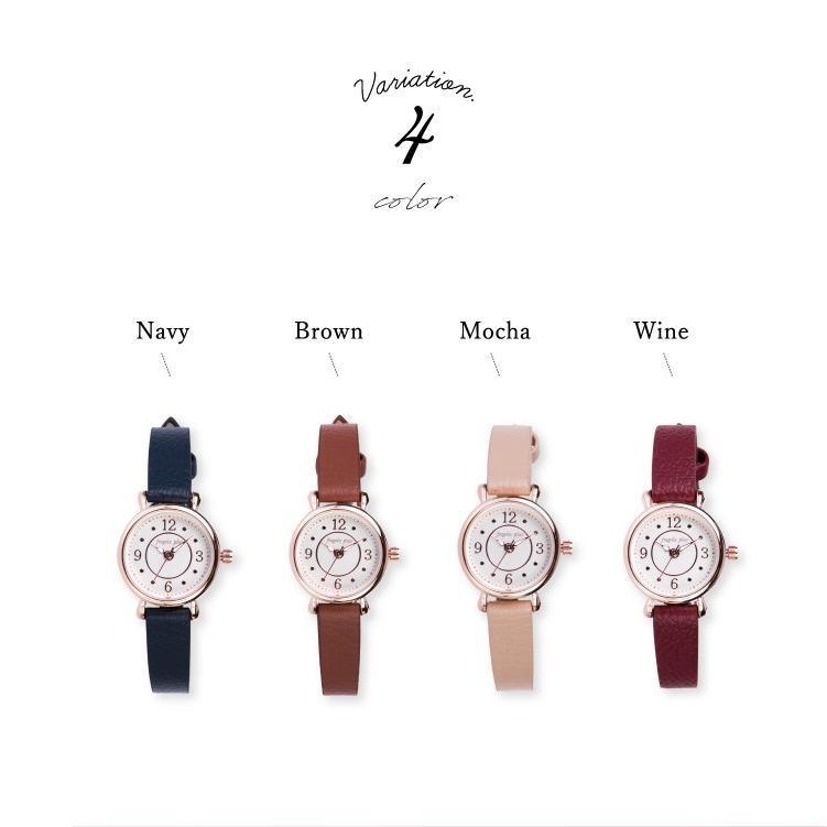 腕時計 レディース 抗菌ベルト 小ぶり シンプル きれい おしゃれ 仕事 レトロ プレゼント ギフト 1年間のメーカー保証付き メール便送料無料|kiitos-web|09