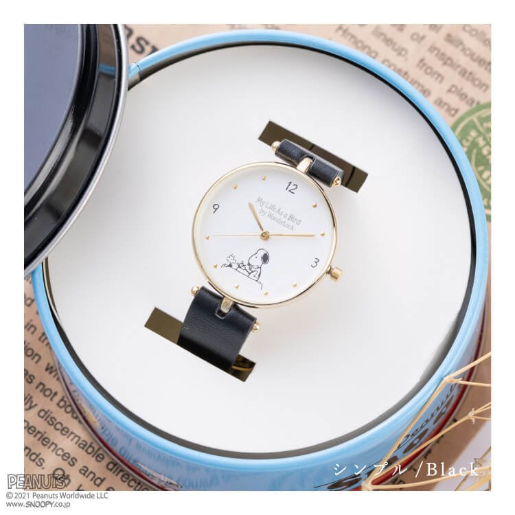 腕時計 レディース スヌーピー SNOOPY 缶入り かわいい おしゃれ 合皮ベルト シンプル カジュアル ブランド ギフト プレゼント|kiitos-web|11