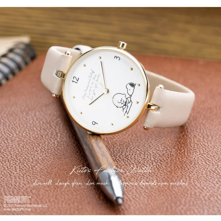 腕時計 レディース スヌーピー SNOOPY 缶入り かわいい おしゃれ 合皮ベルト シンプル カジュアル ブランド ギフト プレゼント|kiitos-web|03
