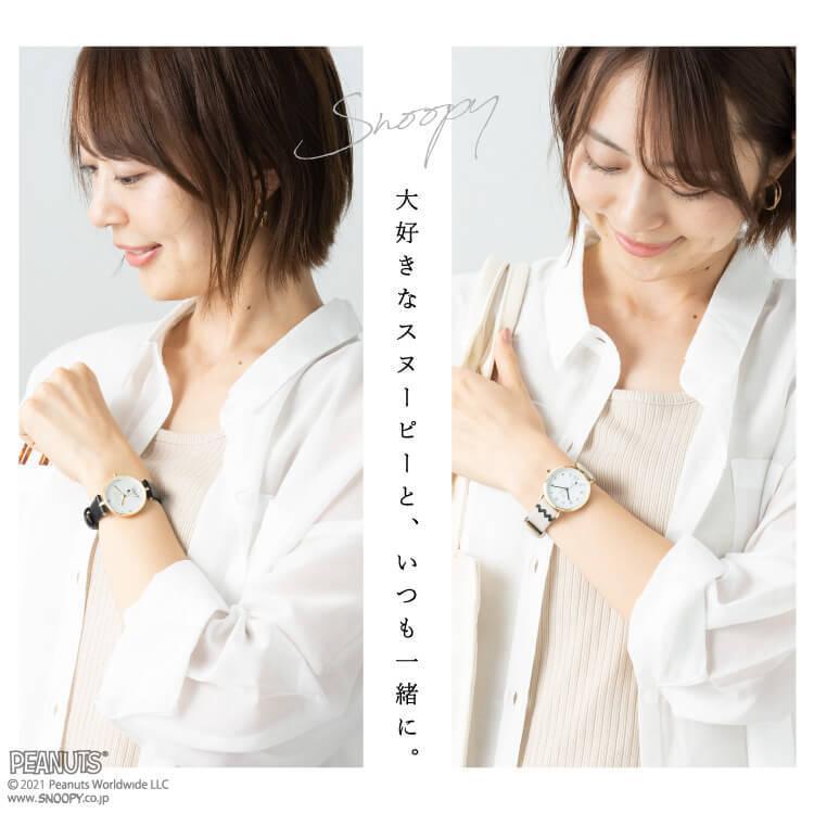 腕時計 レディース スヌーピー SNOOPY 缶入り かわいい おしゃれ 合皮ベルト シンプル カジュアル ブランド ギフト プレゼント|kiitos-web|08