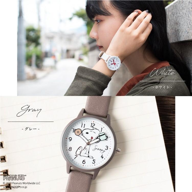 スヌーピー 腕時計 ウォッチ レディース PEANUTS SNOOPY ポーチ付き 手が動く 可愛い ギフト プレゼント 1年間の保証書付き メール便送料無料 kiitos-web 12