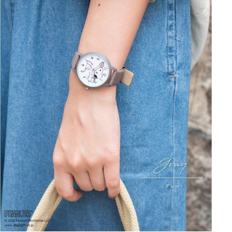 スヌーピー 腕時計 ウォッチ レディース PEANUTS SNOOPY ポーチ付き 手が動く 可愛い ギフト プレゼント 1年間の保証書付き メール便送料無料 kiitos-web 13