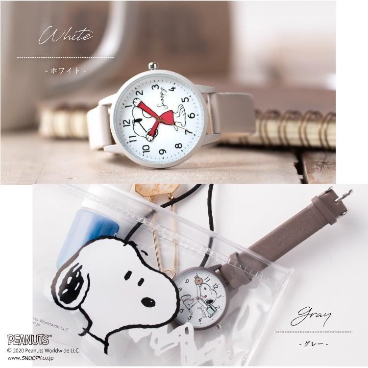 スヌーピー 腕時計 ウォッチ レディース PEANUTS SNOOPY ポーチ付き 手が動く 可愛い ギフト プレゼント 1年間の保証書付き メール便送料無料 kiitos-web 14