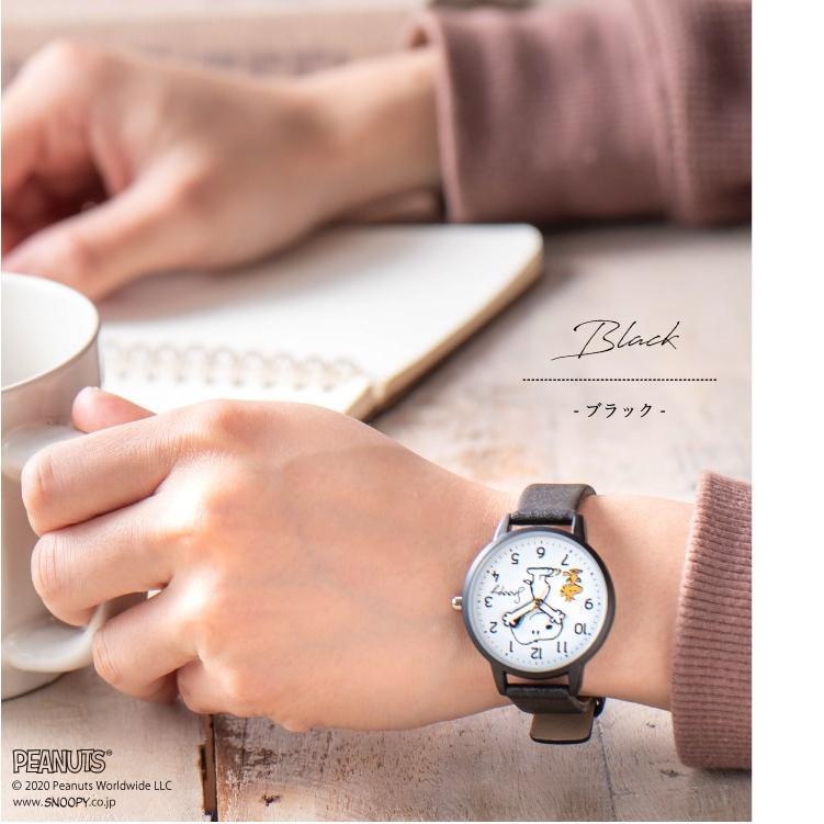 スヌーピー 腕時計 ウォッチ レディース PEANUTS SNOOPY ポーチ付き 手が動く 可愛い ギフト プレゼント 1年間の保証書付き メール便送料無料 kiitos-web 17