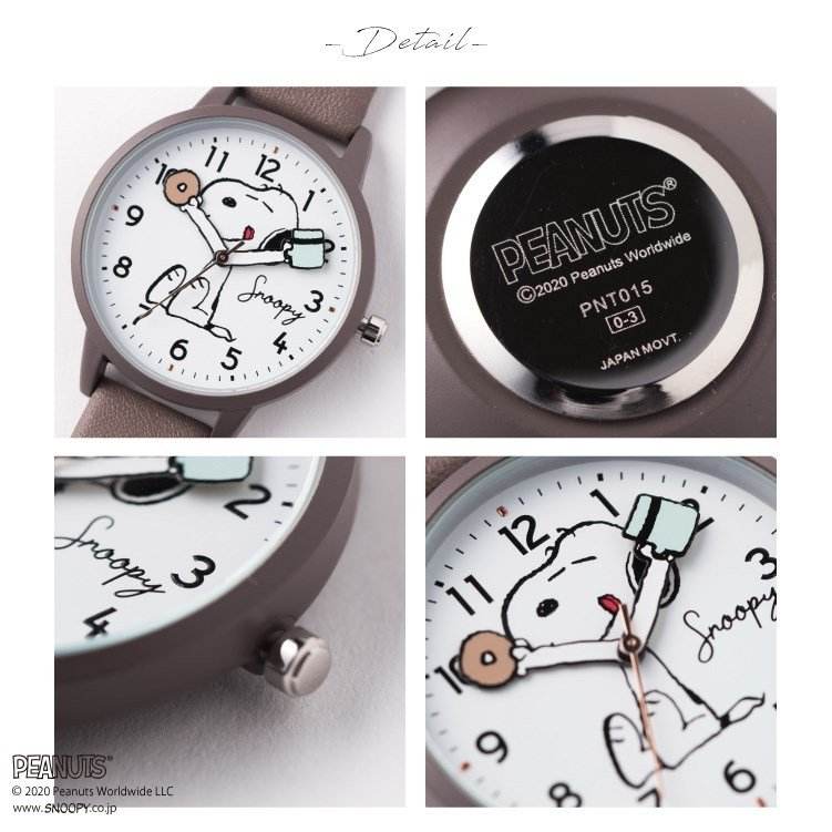 スヌーピー 腕時計 ウォッチ レディース PEANUTS SNOOPY ポーチ付き 手が動く 可愛い ギフト プレゼント 1年間の保証書付き メール便送料無料 kiitos-web 19