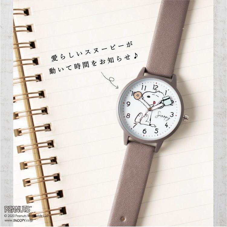 スヌーピー 腕時計 ウォッチ レディース PEANUTS SNOOPY ポーチ付き 手が動く 可愛い ギフト プレゼント 1年間の保証書付き メール便送料無料 kiitos-web 06
