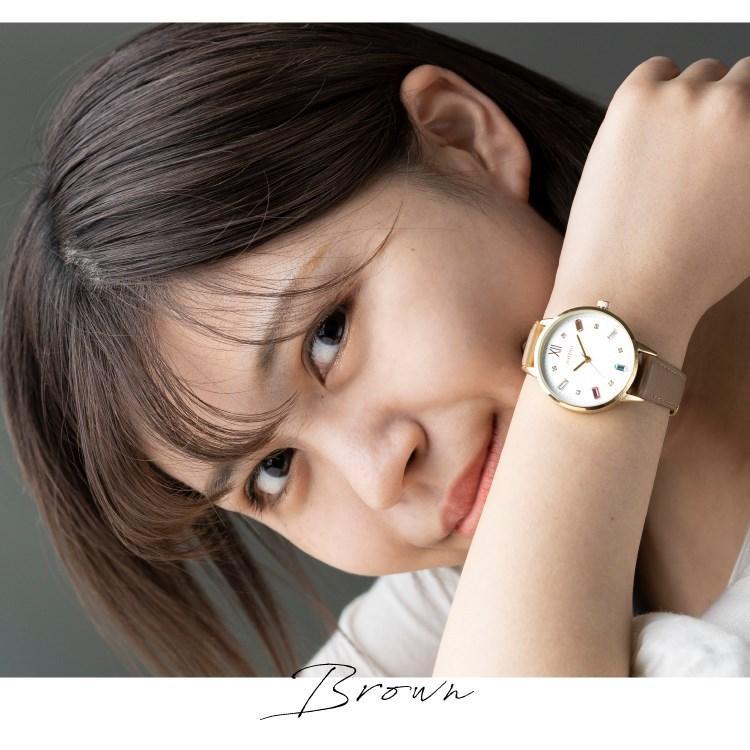腕時計 レディース スワロフスキー 大人 おしゃれ かわいい ブランド シンプル ビジュー ギフト プレゼント メール便送料無料|kiitos-web|17