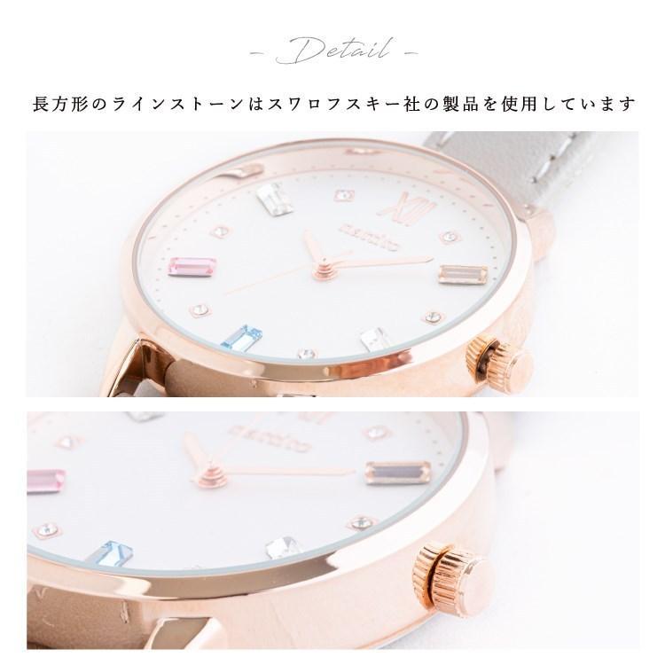 腕時計 レディース スワロフスキー 大人 おしゃれ かわいい ブランド シンプル ビジュー ギフト プレゼント メール便送料無料|kiitos-web|20
