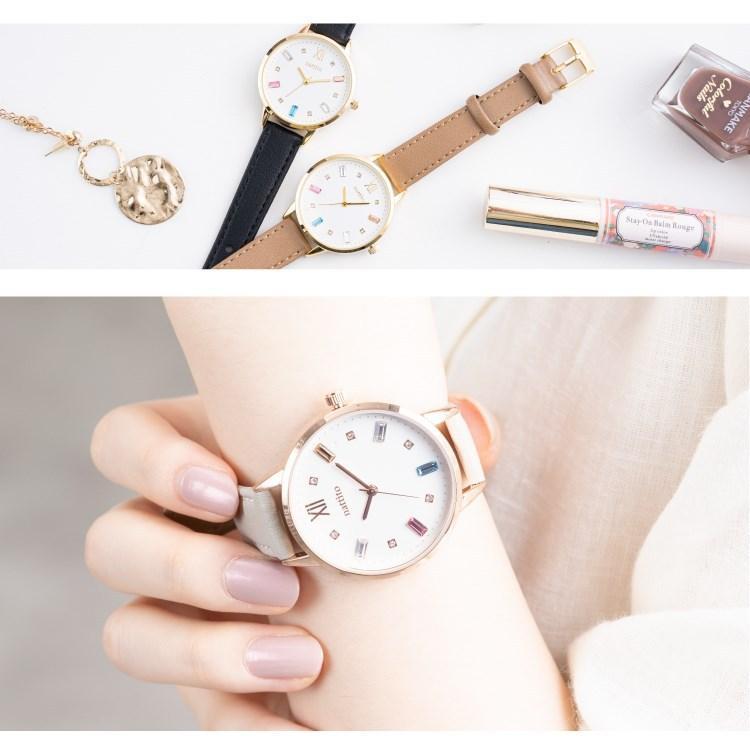 腕時計 レディース スワロフスキー 大人 おしゃれ かわいい ブランド シンプル ビジュー ギフト プレゼント メール便送料無料|kiitos-web|04