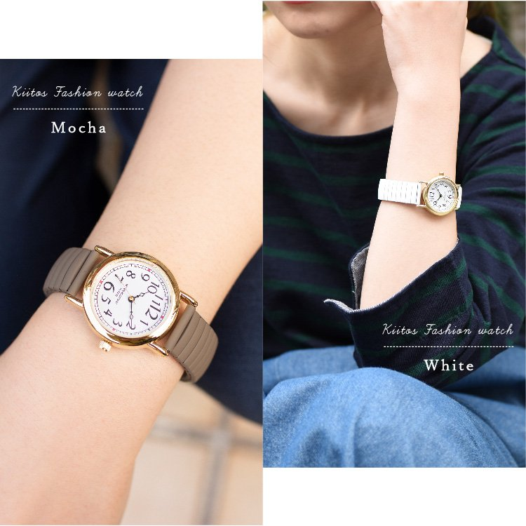 腕時計 レディース 10気圧防水 じゃばら 大人 かわいい おしゃれ ギフト プレゼント 1年間のメーカー保証付 メール便送料無料 kiitos-web 11