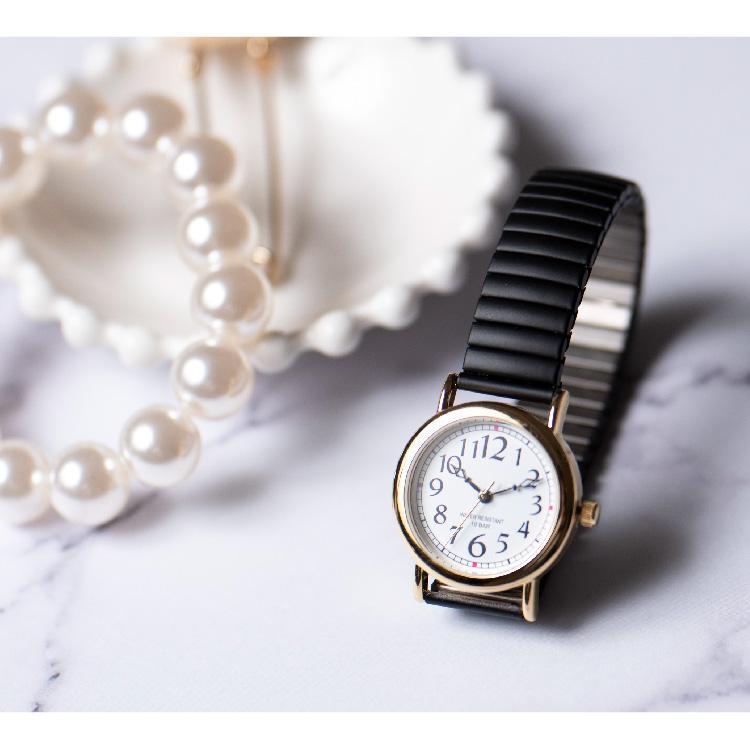 腕時計 レディース 10気圧防水 じゃばら 大人 かわいい おしゃれ ギフト プレゼント 1年間のメーカー保証付 メール便送料無料 kiitos-web 17