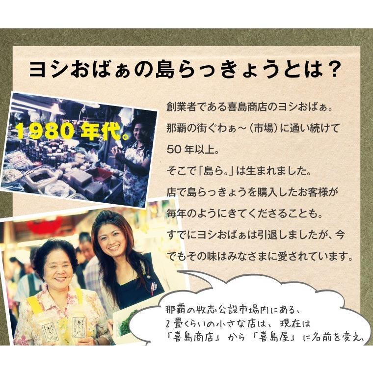 らっきょう 沖縄 漬物 ヨシおばぁの手作り 島ら。塩漬け 100g|kijimaya|06