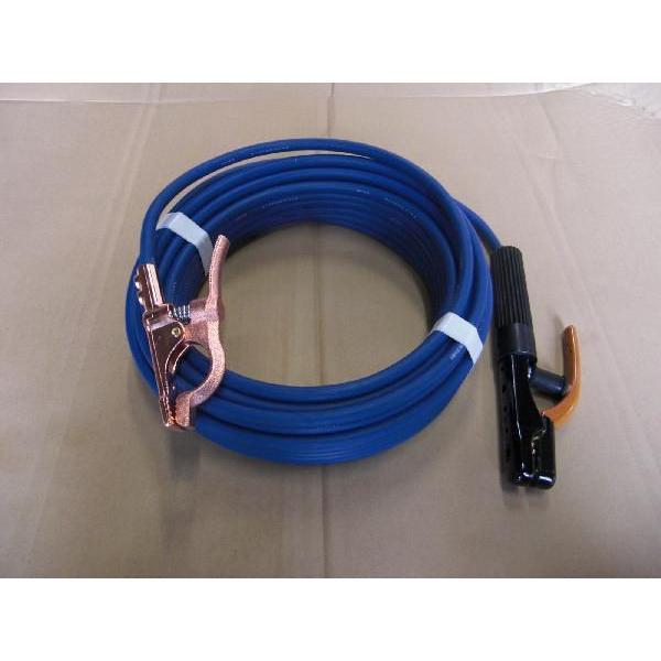 溶接用 キャブタイヤケーブル トータル30m セット品 ジョイントなし 青