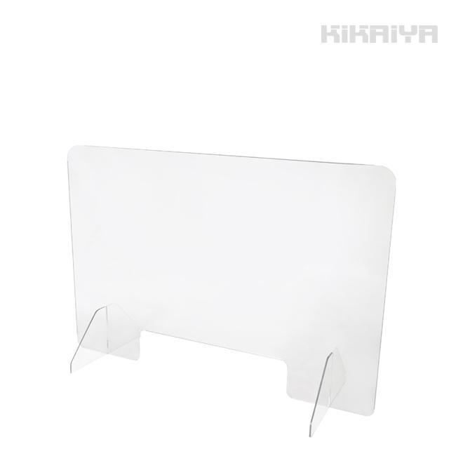 アクリルパーテーション 透明 W900mm H600mm 極厚5mm 窓付き アクリルボード アクリル板 仕切り板 衝立 コロナ感染対策(個人様宛は別途送料/商品代引不可)|kikaiya-work-shop