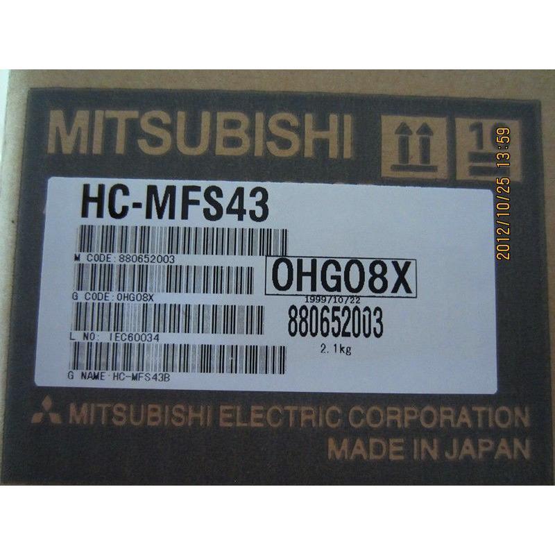 三菱電機 サーボモータ HC-MFS43  未使用品