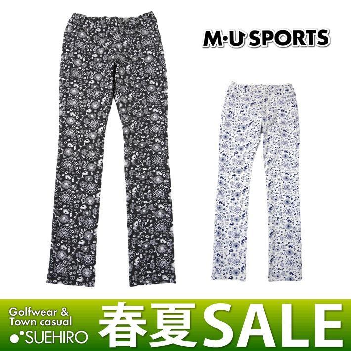 MUスポーツ ゴルフウェア ロングパンツ (M/L/LL寸:レディース) 春夏 55%OFF/SALE