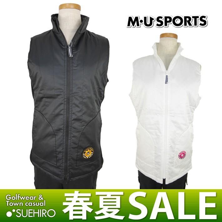 MUスポーツ ゴルフウェア ハイネックベスト (M/L/LL寸:レディース) 春夏 50%OFF/SALE