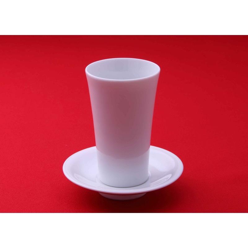 酒器  杯台(皿形)・猪口(天開グラス型)セット kikusui-sake